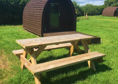 Pitch and Canvas | Glamping and Camping in Cheshire | Outside Acorn Pod