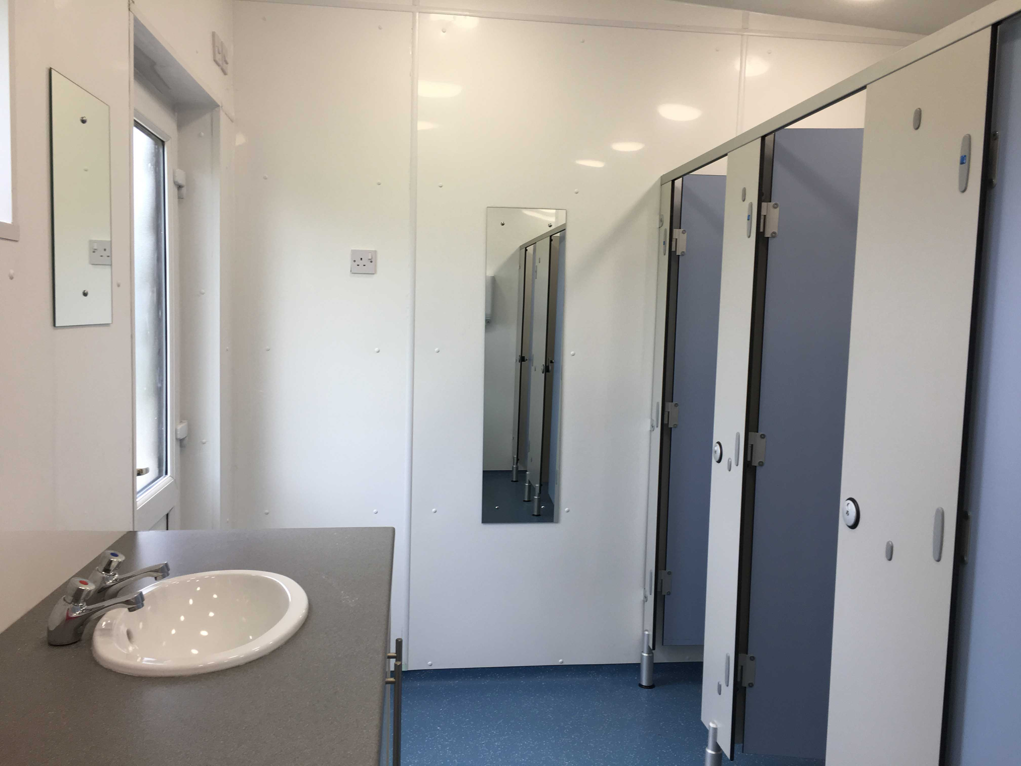 Pitch and Canvas | Glamping and Camping in Cheshire | Toilet block inside