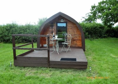 Pitch and Canvas | Glamping and Camping in Cheshire | Outside picture of luxury pod