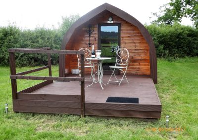 Pitch and Canvas | Glamping and Camping in Cheshire | Exterior of luxury pod