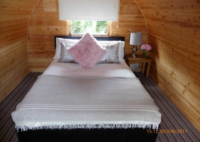 Pitch and Canvas | Glamping and Camping in Cheshire | Bed in luxury pod