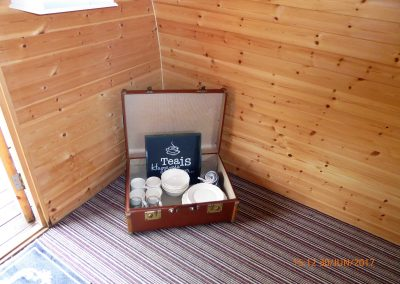Pitch and Canvas | Glamping and Camping in Cheshire | Suitcase with crockery provided