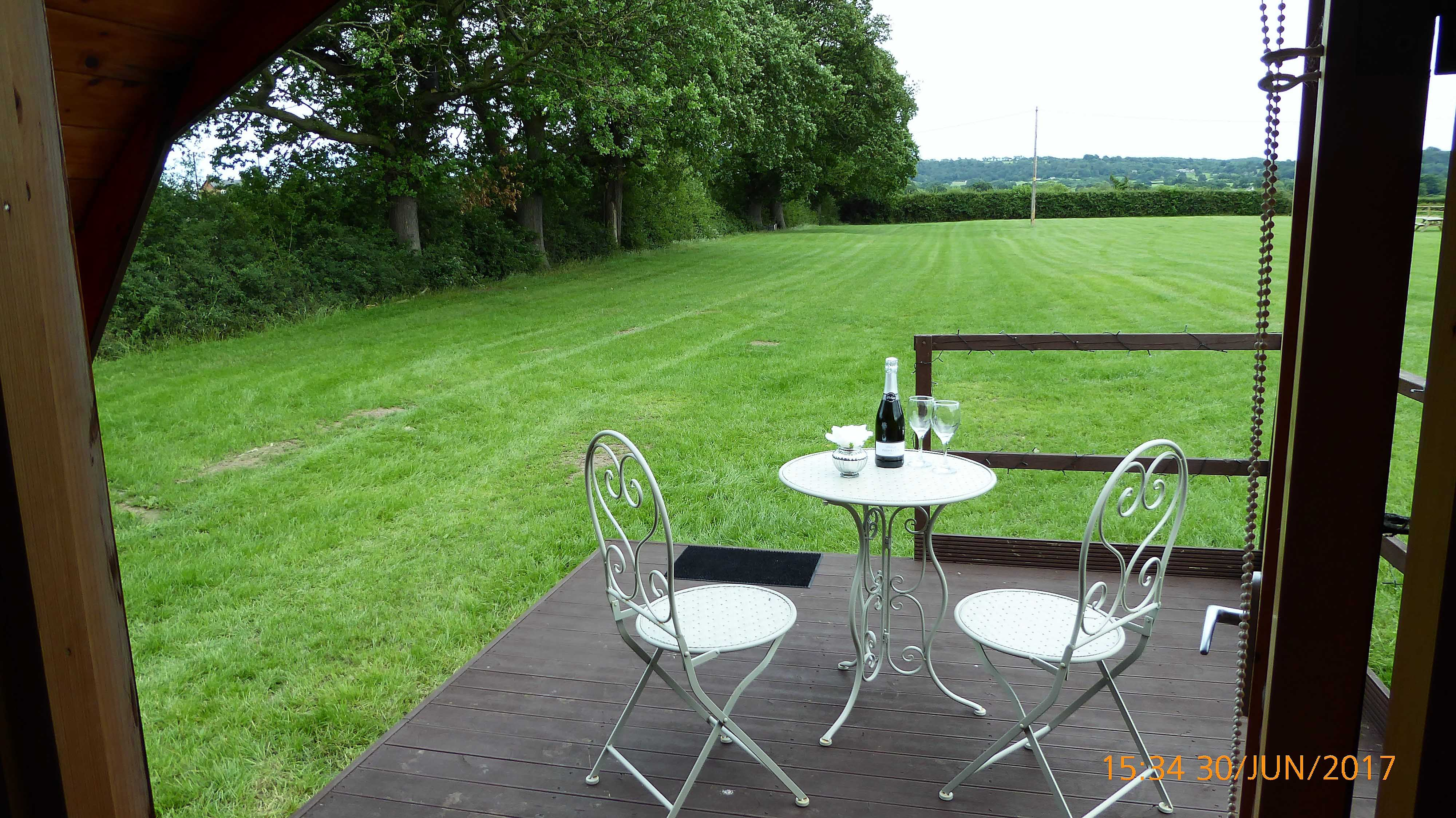 Pitch and Canvas | Glamping and Camping in Cheshire | View from luxury pod