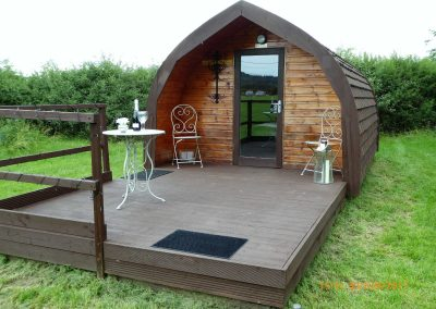 Pitch and Canvas | Glamping and Camping in Cheshire | Luxury pod exterior