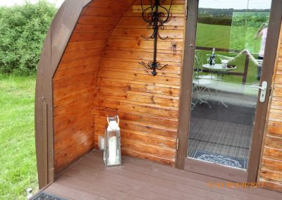 Pitch and Canvas | Glamping and Camping in Cheshire | Exterior of camping pod