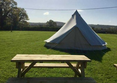Pitch and Canvas | Glamping and Camping in Cheshire | Picture of tent in campsite