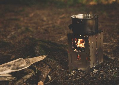 Pitch and Canvas | Glamping and Camping in Cheshire | Firepit at night