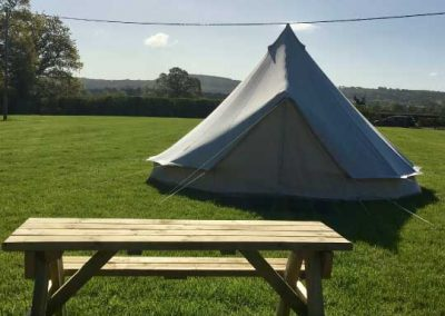 Pitch and Canvas | Glamping and Camping in Cheshire | 5 meter tent