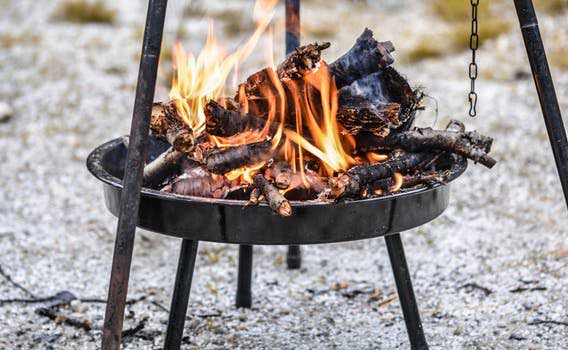 Pitch and Canvas | Glamping and Camping in Cheshire | Picture of Fire Pit
