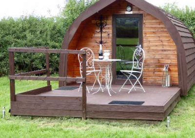 Pitch and Canvas | Glamping and Camping in Cheshire | Picture of outside of luxury pod