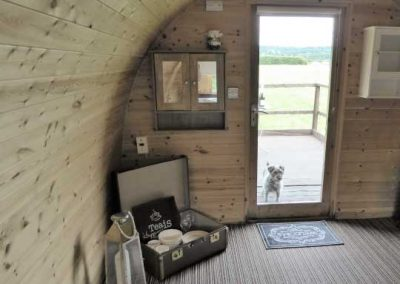 Pitch and Canvas | Glamping and Camping in Cheshire | Inside of Luxury Pod
