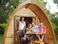 Pitch and Canvas | Glamping and Camping in Cheshire | Family in pod