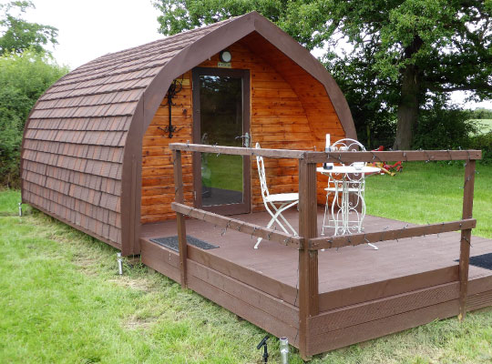 Pitch and Canvas | Glamping and Camping in Cheshire | Luxury pod outside picture