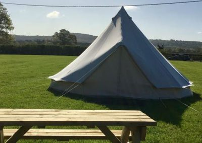 Pitch and Canvas | Glamping and Camping in Cheshire | Bell tent picture
