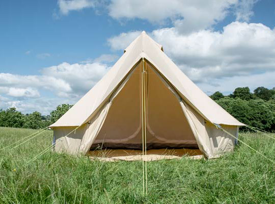 Pitch and Canvas | Glamping and Camping in Cheshire | 5 Metre Bell Tent